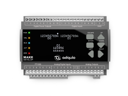Características controlador adquio pro