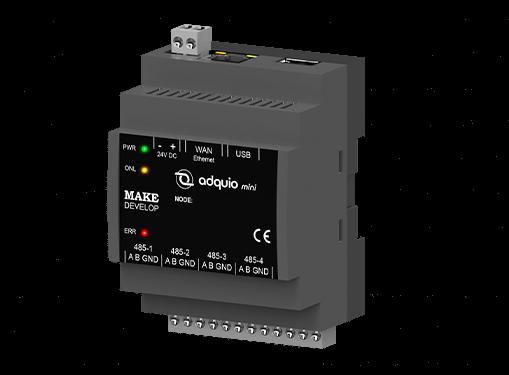 Controlador adquio mini. Recolector de datos de diferentes plataformas.
