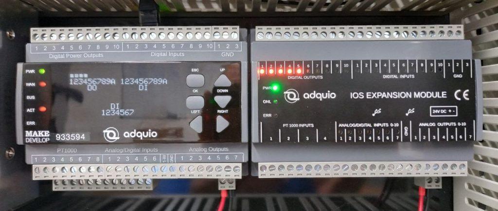 como conectar un módulo de expansión a adquio pro