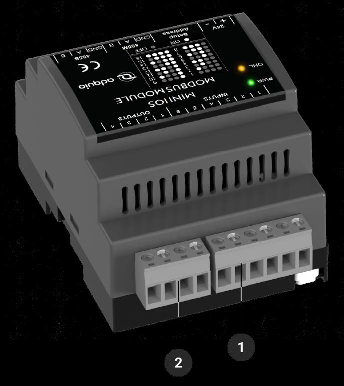 Explicación de conectores traseros del adquio mini IOs